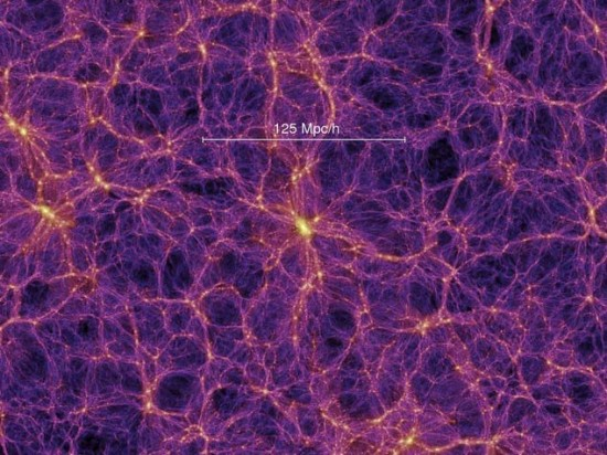 According to what astronomers know now, the very early universe was more or less uniform as it expanded outward from the Big Bang.  But there were some areas of slightly higher density. And, over time, those areas of higher density became the superclusters.  Now -according to the most recent ideas about what the universe looks like - as we peer at the universe as a whole, it has this sort of