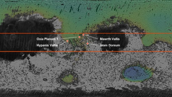 Space scientists have selected four possible landing sites for the ExoMars 2018 mission.  Read more.