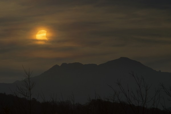 Dale Forrest caught the eclipse from the Blue Ridge Parkway near Boone, North Carolina