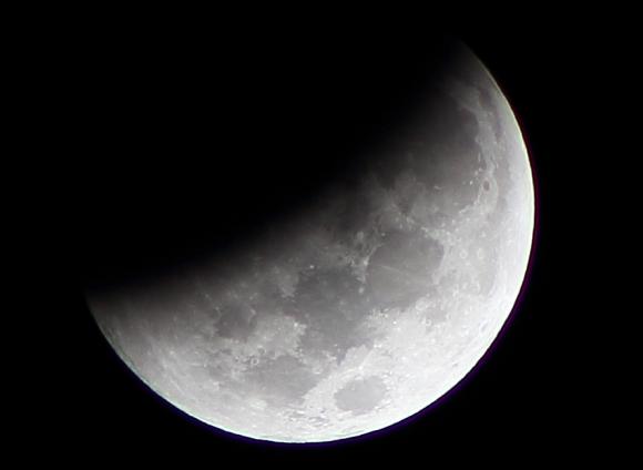 Deep partial eclipse seen in  Querétaro, Mexico by Antonio (@adieon on Twitter).