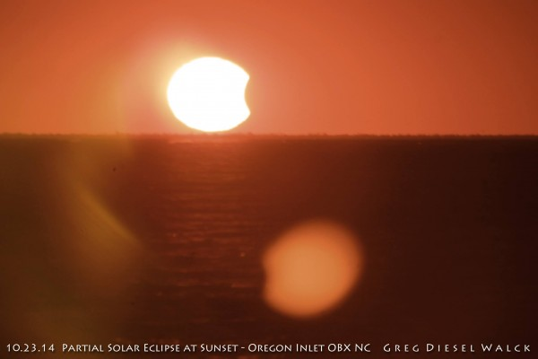 GregDiesel Landscape Photography caught this interesting shot of the eclipse from the Oregon Inlet, Outer Banks, North Carolina