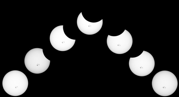 Mike Gifford in northern California created this composite of the October 23 partial solar eclipse.