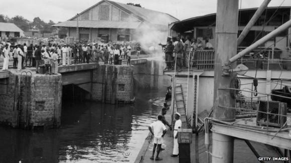 Kinshasa, 1955. Via BBC