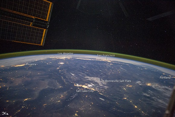 View from space southwestern u s at night earth earthsky for Space station usa