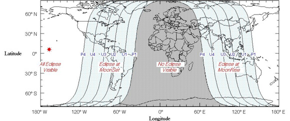 Lunar Eclipse Map For 8th October. Worldwide-eclipse-map-october-2014-total-lunar-eclipse