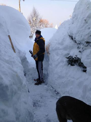 Digging out of the snow in West Seneca, NY on November 19, 2014. Image appears courtesy of Carrie Boye Roof.