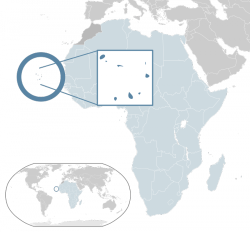 Cape Verde - an island country spanning an archipelago of 10 volcanic islands - located 570 kilometers (350 miles) off the coast of Western Africa. Map via Wikimedia Commons