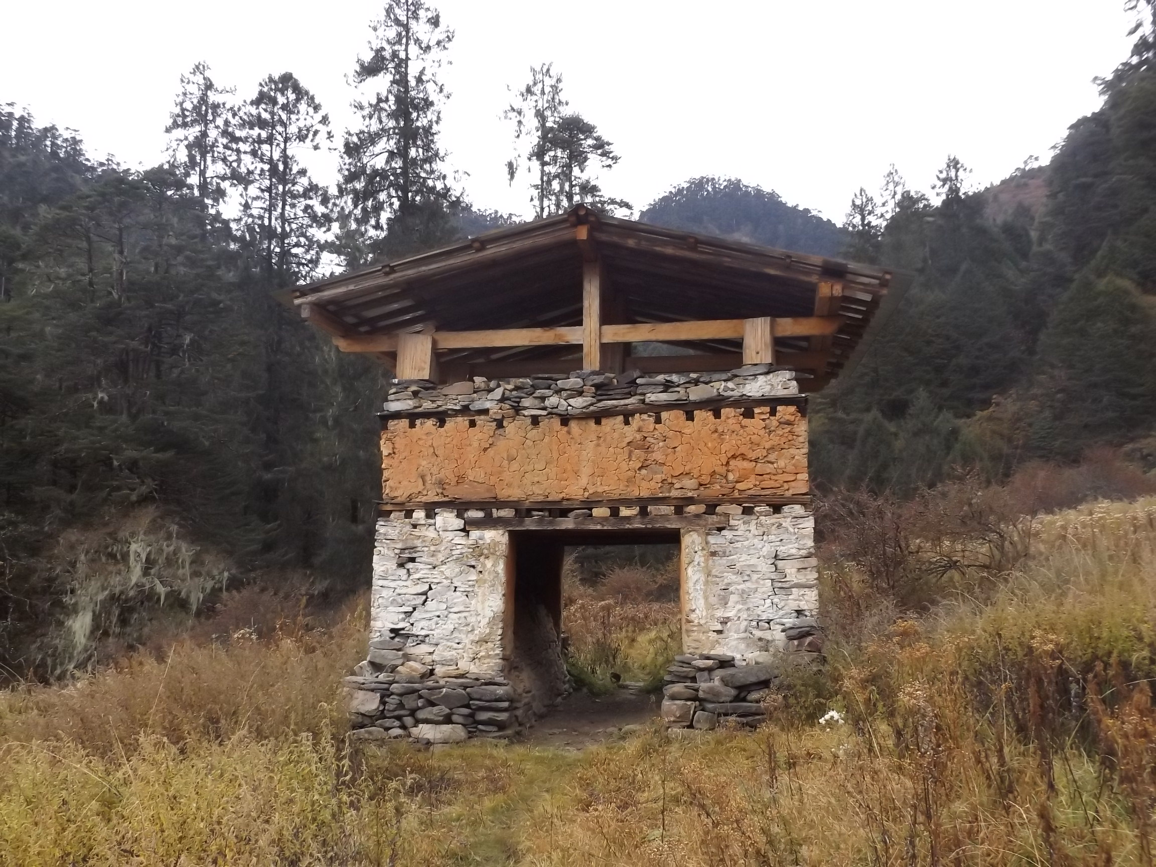 Gate on an old trail to Tibet. Photo credit: Ben Orlove