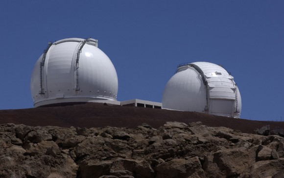 The two Keck 10-meter (33 feet) telescopes. Image via NASA/JPL