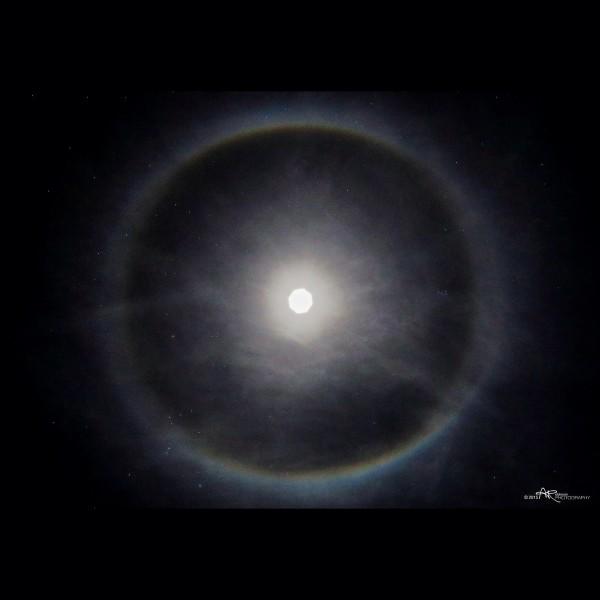Moon halo captured by Aaron Robinson in Idaho Falls, Idaho on January 30, 2015.