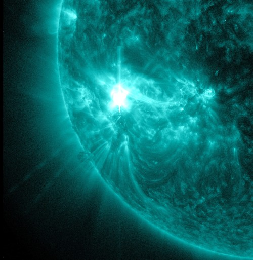 Flare from sunspot
