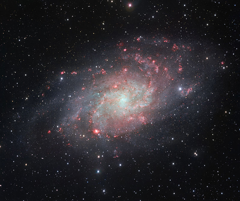 Triangulum galaxy - aka M33 - via the VLT Survey Telescope at European Southern Observatory's Paranal Observatory in Chile.