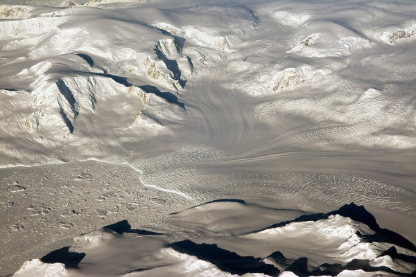 View larger. | Antarctic glaciers, via the American Geophysical Union.