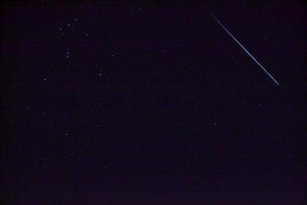 Danny Harbin caught this Geminid meteor on December 13, 2014 over Trenton, Alabama.