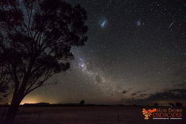 Wondering if this meteor shower can be seen from Earth's Southern Hemisphere?  Lynton Brown in Horsham, Australia captured this Geminid meteor on the morning of December 14, 2014.  He wrote: