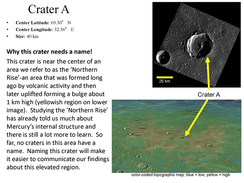 More about each of the craters here.  Image credit: NASA
