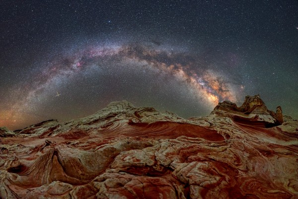 View larger. | The Milky Way as seen from Vermilion Cliffs National Monument in Arizona, by Dave Lane Astrophotography.  Visit Dave Lane's Facebook page.