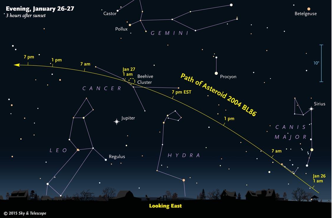 big asteroid swept close on january 26 human world earthsky