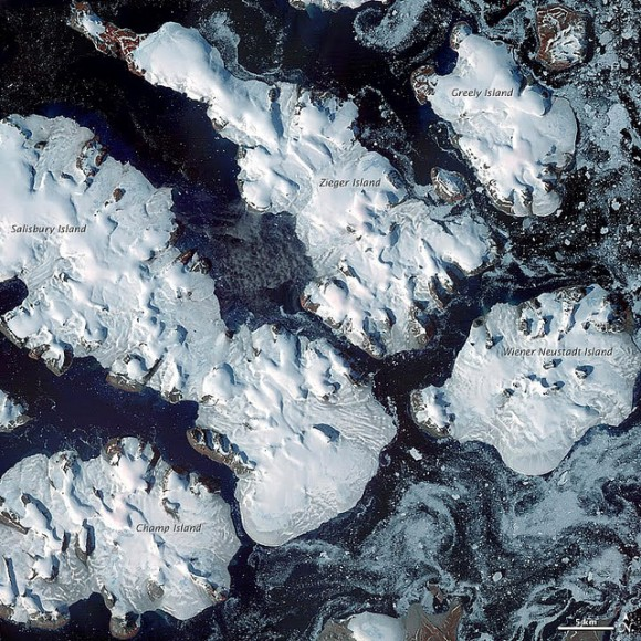 Frozen Franz-Josef Land, August, 2011. © NASA's Earth Observatory