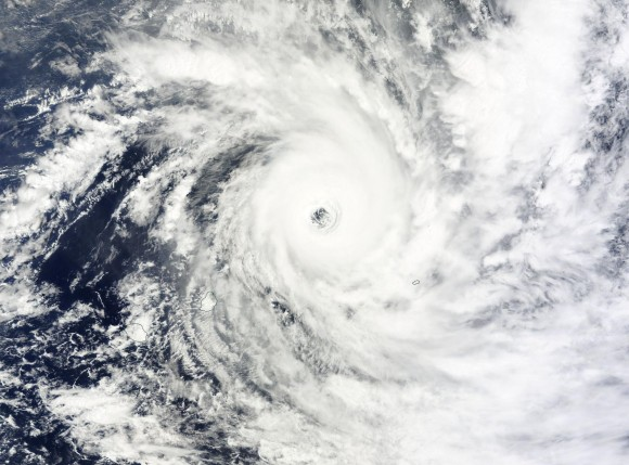 Tropical Cyclone Bansi on January 15, 2015. Image Credit: NASA