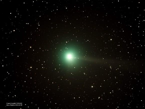 Comet Lovejoy on January 8, 2015 by Steve Pauken in Winslow, Arizona.