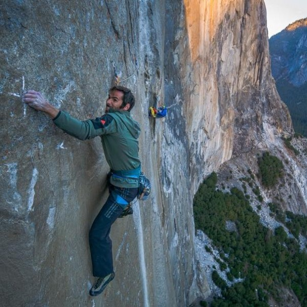 Kevin Jorgeson (l) and Tommy Caldwell (r) have become the first to free-climb El Capitan in Yosemite National Park.  Image via Kevin Jorgeson on Facebook.