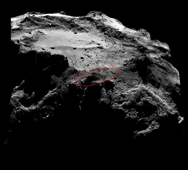 Image via ESA ESA/Rosetta/MPS for OSIRIS Team MPS/UPD/LAM/IAA/SSO/INTA/UPM/DASP/IDA.