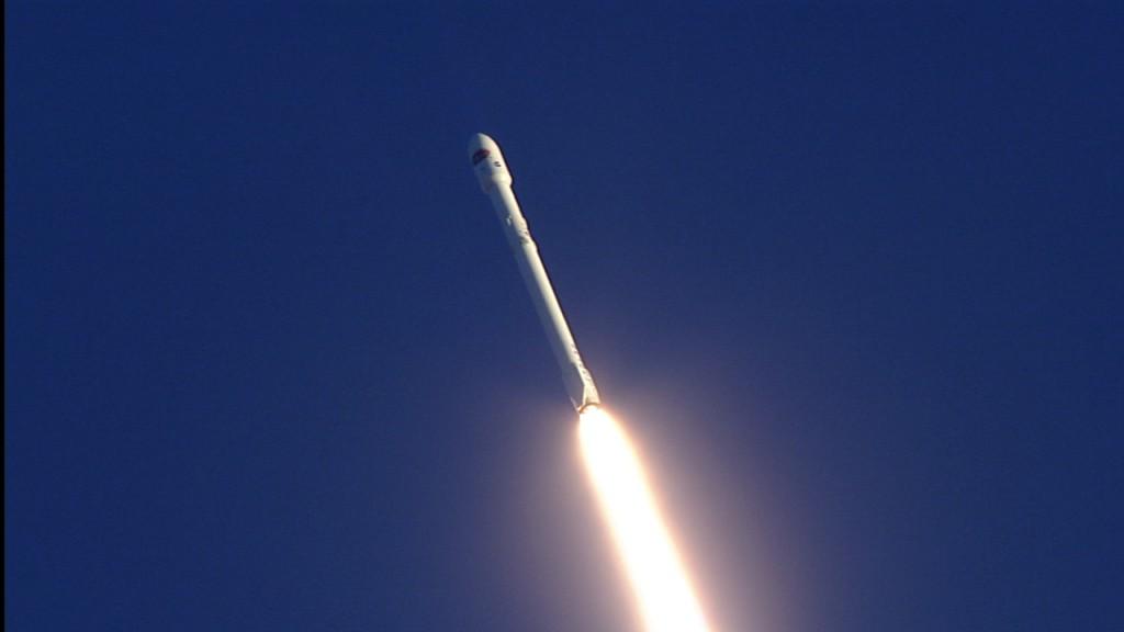 DSCOVR/Falcon 9 in flight. Photo credit: NASA TV