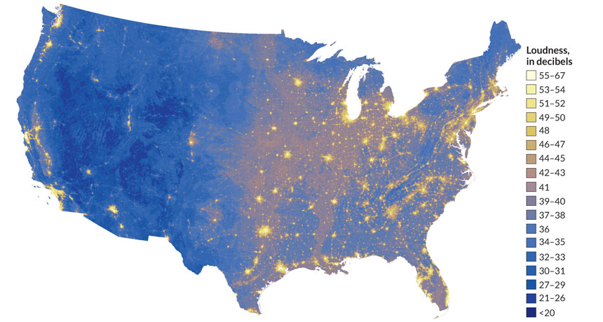 Map shows loudest, quietest places in U.S. | Earth | EarthSky