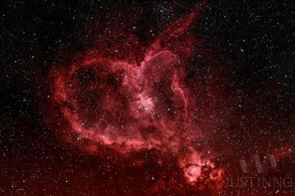 IC1805 aka the Heart Nebula via Justin Ng.  See it larger at his website.
