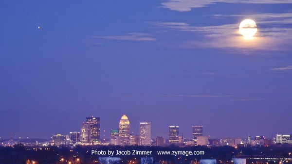 Our friend Jacob Zimmer posted this photo of the moon and Jupiter on February 3, over Louisville, Kentucky.