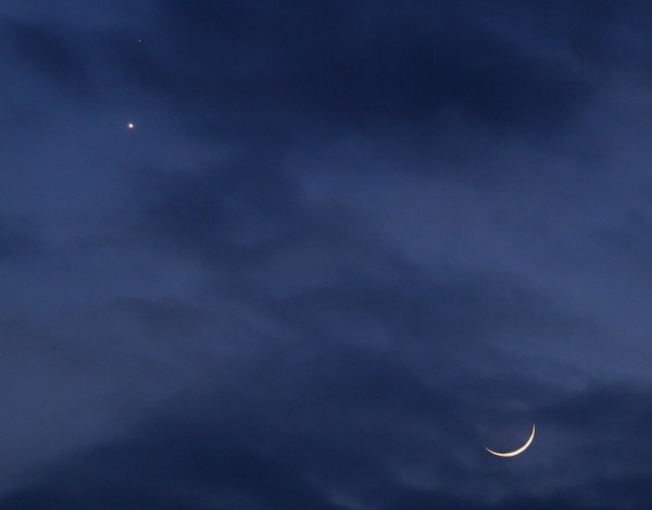 Elena Gissi caught the planets and moon from Italy.