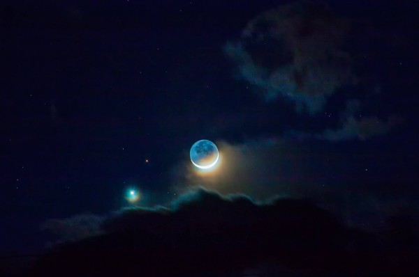 Joe Randall in Colorado posted this beautiful capture of the planets and moon at EarthSky Facebook.