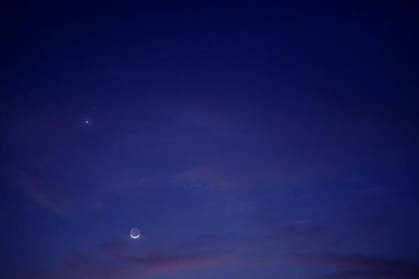 Farman Shams captured them from Karachi, Pakistan, when the moon was still well below the planets.