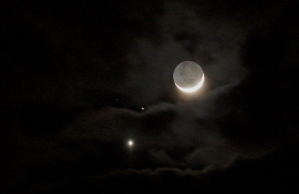 Terry Lee Smith caught the planets and moon from Pocatello, Idaho