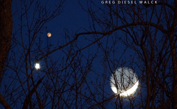 Greg Diesel Walck's photo beautifully caught the red color of the planet Mars.