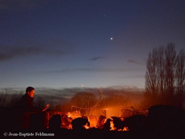 Dark night sky selfie by EarthSky Facebook friend Jean-Baptiste Feldmann in France.  Thank you, Jean-Baptiste!