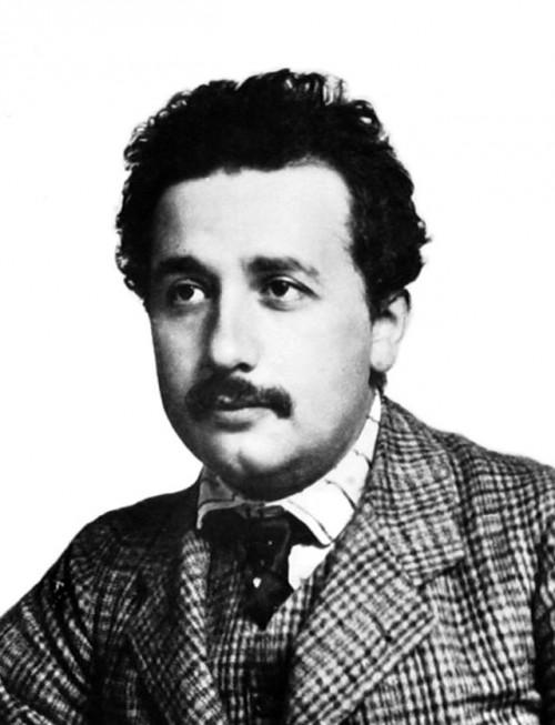Albert Einstein in 1904 at age 25.