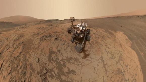 Curiosity's latest selfie, assembled from dozens of separate images taken by the rover in January. Image credit: NASAJPL-CaltechMSSS