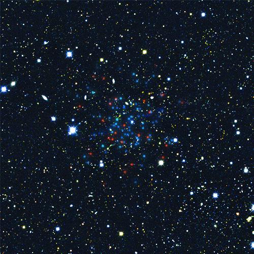 Newly discovered Milky Way satellite Horologium-1. Image via V. Belokurov, S. Koposov (IoA, Cambridge).