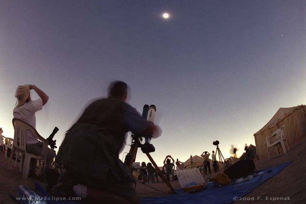 A 2006 total solar eclipse as captured by eclipse master Fred Espenak.