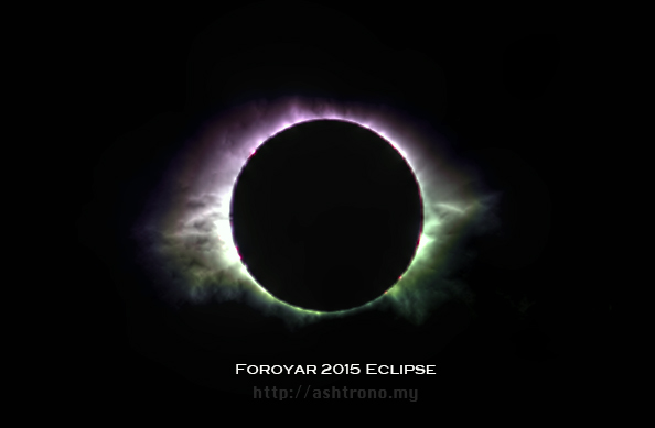 Total solar eclipse of March 20, 2015 as seen by Halda Mohammed in the Faroe Islands.