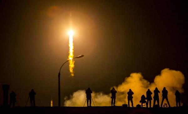 Soyuz TMA-16M spacecraft launch on March 27, 2015