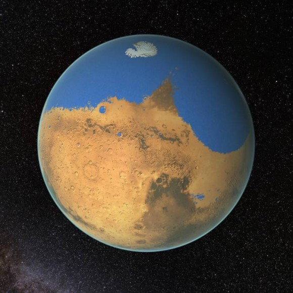 Mars lost ocean of water to space