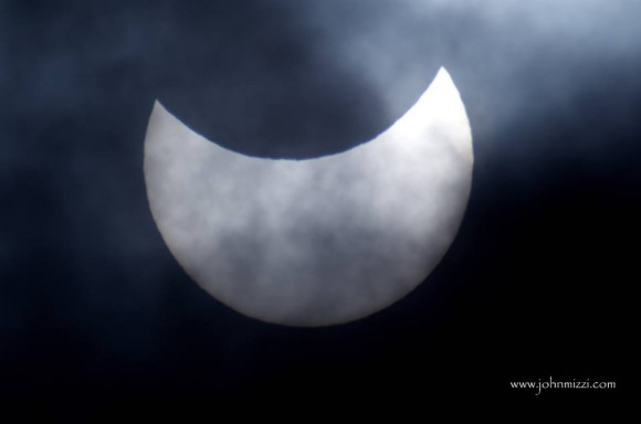 Partial eclipse at 10:25 CET over Gozo, Malta by John Michael Mizzi