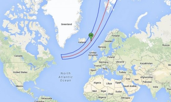 A total solar eclipse can be seen only along a narrow pathway across Earth's surface.  In the case of the March 20, 2015 eclipse that pathway cuts east of Iceland, across the North Atlantic.