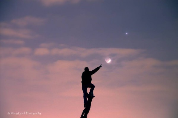 Anthony Lynch posted this whimsical shot of the March 22 moon and Venus at EarthSky Facebook.