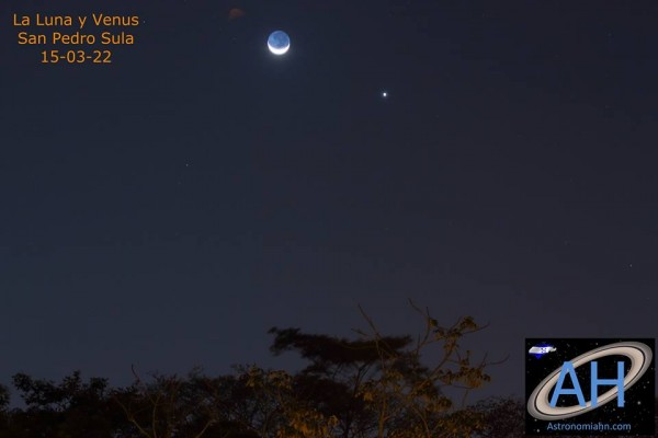 Venus and moon March 22, 215 from Astronomia Honduras in San Pedro Sula.