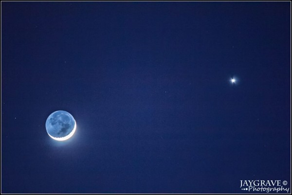 Venus and moon March 22, 2015 from John Gravell in Boston.