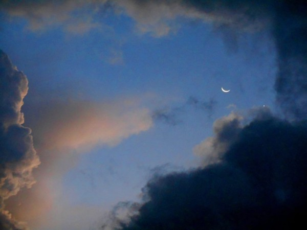 Venus and moon March 22, 2015 from Rodolfo Useche Melo in Bogota, Colombia.